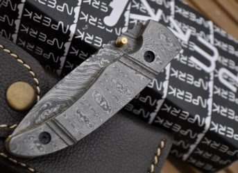 ALL DAMASCUS FOLDING KNIFE WORK OF ART BY KOOBI