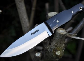 BUSHCRAFT KNIFE - 01 CARBON STEEL & BUFFALO HORN HANDLE