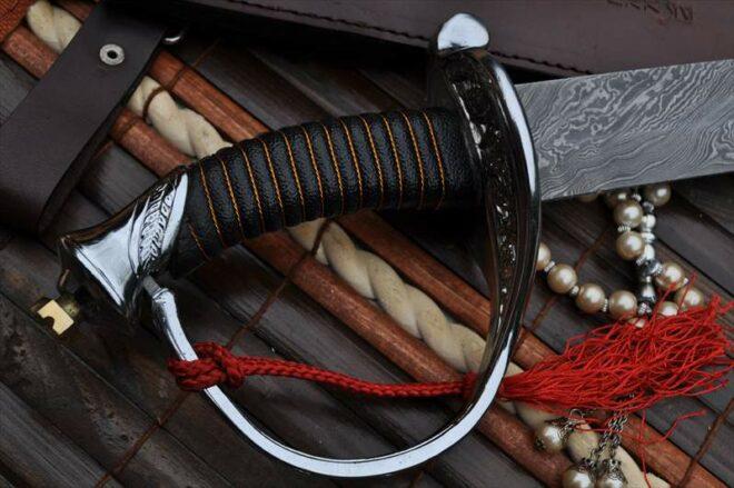 Custom Hand Made Damascus Mini Sword - 20 Inches