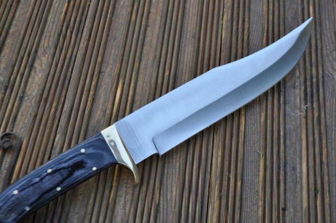 Custom Ball Bearing Steel Knife With Pakka Wood Handle