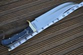 CUSTOM HANDMADE HUNTING KNIFE - BOWIE KNIFE - BALL BEARING STEEL