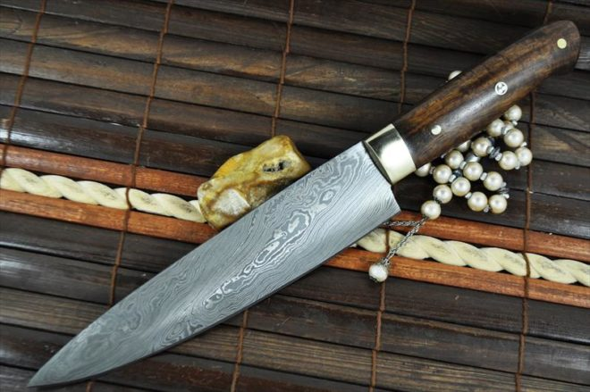 8 Inch Custom Made Damascus Steel Chef's Knife