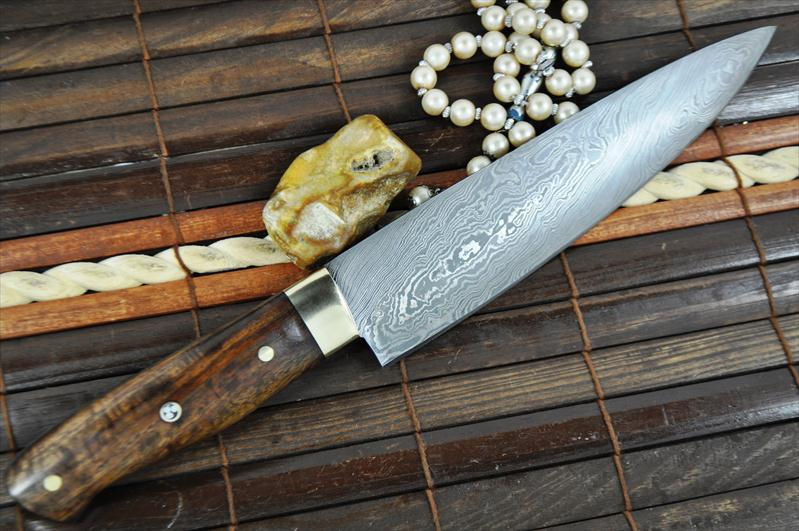 Custom Made Chef 39 S Knife Damascus Steel Ideal For