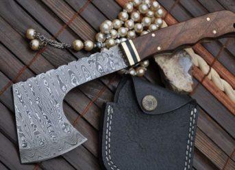 DAMASCUS HUNTING KNIFE HUNTING AXE HATCHET SURVIVAL TACTICAL
