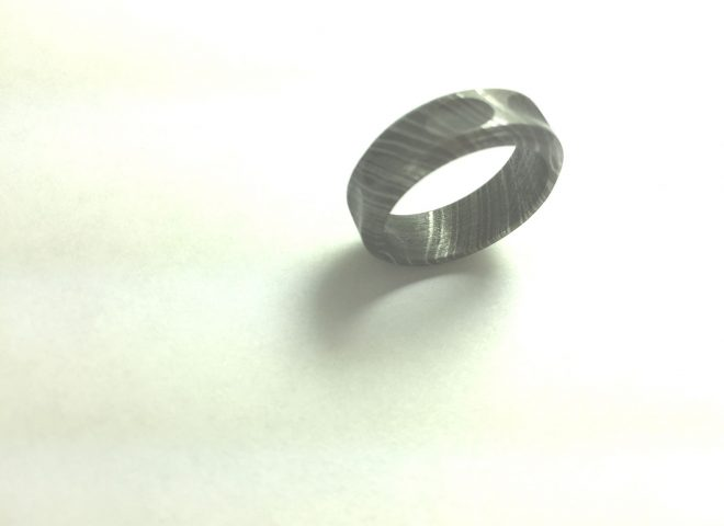Damascus Steel Ring - R5