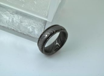 Damascus Steel Ring - R1