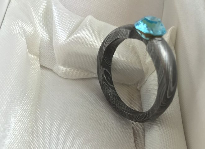 Hand Forged Damascus Steel Ring