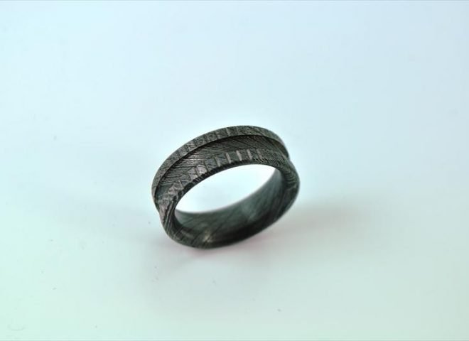 DAMASCUS STEEL RING - WEDDING RING-R2