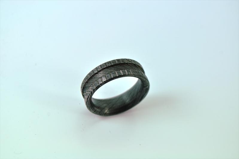 DAMASCUS STEEL RING - WEDDING RING-R2 - Perkin