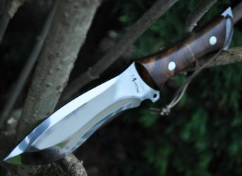 Handcrafted Hunting Knife with D2 Tool Steel