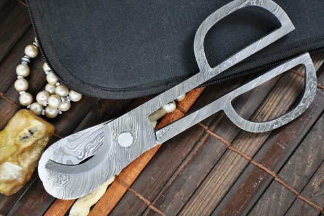 Handmade Damascus Cigar Cutter