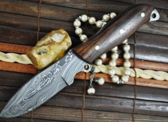 Custom Full Tang Handmade Damascus Camping Knife