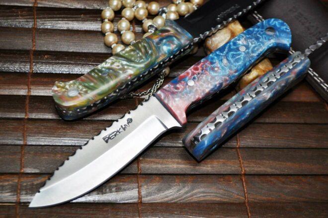 Bushcraft Knife with Sheath & Unique Handle