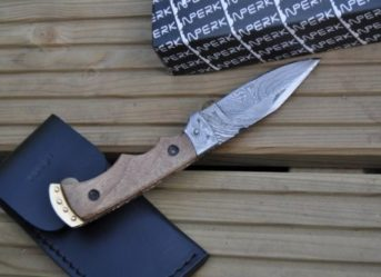 CUSTOM MADE DAMASCUS POCKET KNIFE - BY KOOBI - NOW LEGAL TO CARRY
