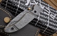 Custom made Damascus Folding Knife - Perkins English Handmade knives - MW
