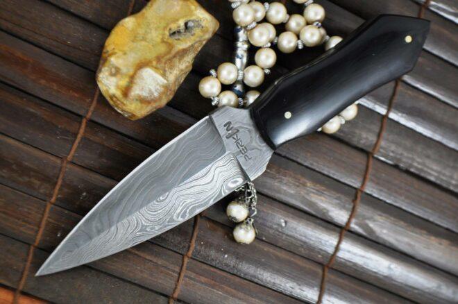 Double Edge & Buffalo Horn Handle Hunting Knife - Big Sale
