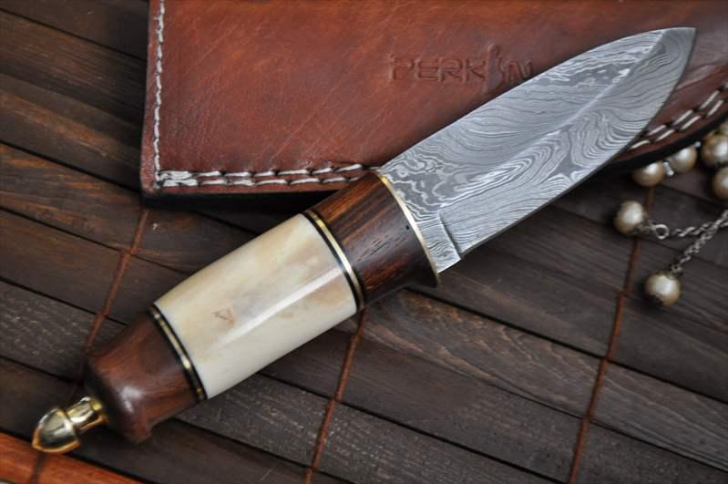 custom damascus hunting knife bushcraft knife english