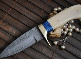 custom-damascus-hunting-knife-mammoth-handle-sheath-364-p