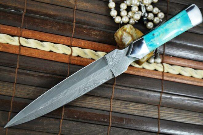 Double Edge with Bone Handle Hunting Knife
