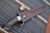Handcrafted Mini Sword with Stag Antler Handle - 15 Inches