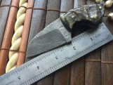 CUSTOM HANDMADE DAMASCUS HUNTING KNIFE - NECK KNIFE - WNKR