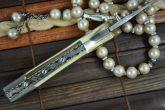 Custom Handmade Damascus Pocket Knife Damascus & Brass Handle