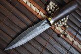 Stunning Handmade Damascus Double Edge Hunting Knife