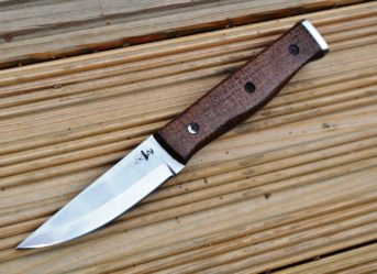 Custom Handmade Hunting/Bushcraft Knife with stunning Micarta Handle