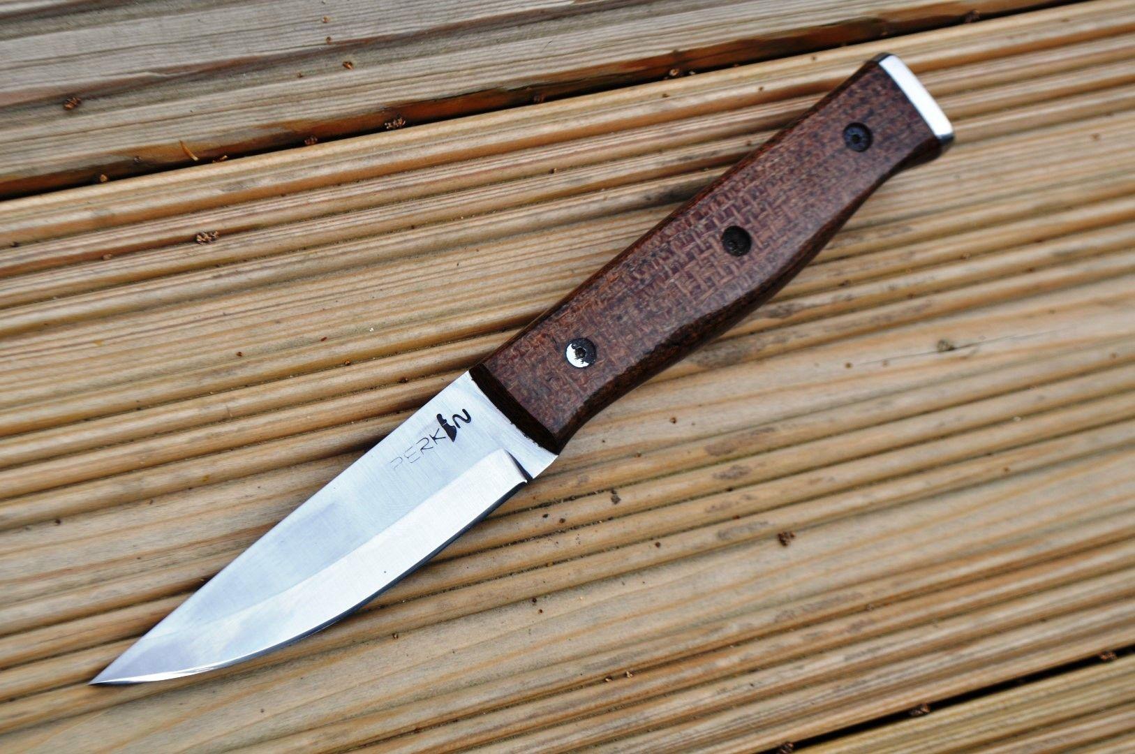 Custom Handmade Hunting Bushcraft Knife Stunning Micarta Handle