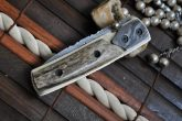 Custom Handmade Pocket Knife - Folding Knife Stag Handle