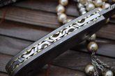 Custom made All Damascus Pocket Knife Damascus handle -By Koobi- For camping and Bushcraft
