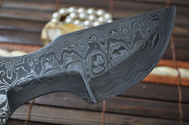 Custom Made Damascus Blank Blade
