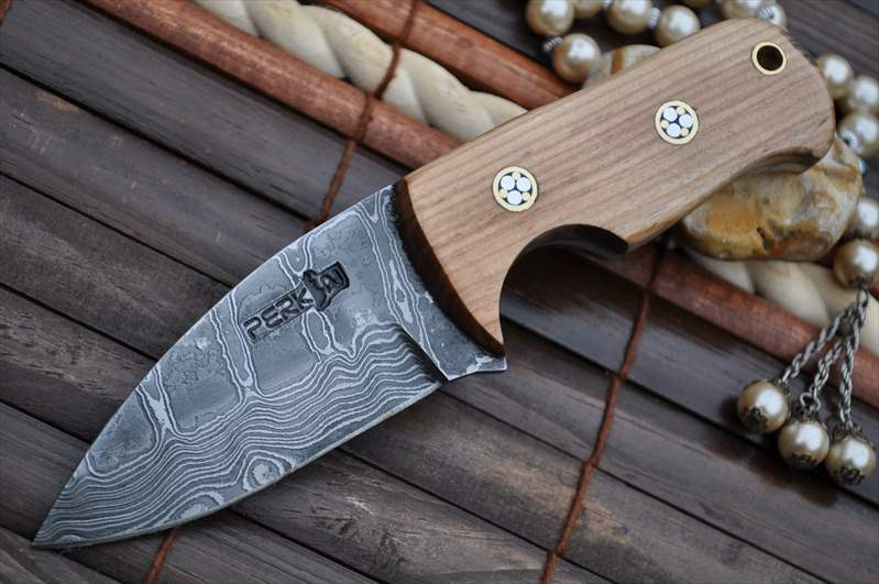 Neck Knives Uk Neck Knife With Pear Wood Handle Perkin