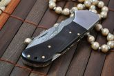 Lockback Knife - Custom Made Damascus Folding Knife