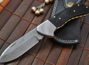 Lockback Knife - Custom Made Damascus Folding Knife