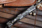 Custom Made Damascus Folding Knife - Work of Art By Koobi