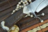 CUSTOM MADE DAMASCUS HUNTING KNIFE BEAUTIFUL CAMPING KNIFE