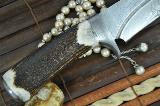Custom Made Damascus Hunting Knife