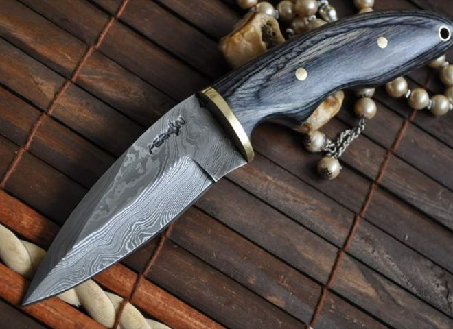 CUSTOM MADE DAMASCUS HUNTING KNIFE FILIPINO'S STYLE
