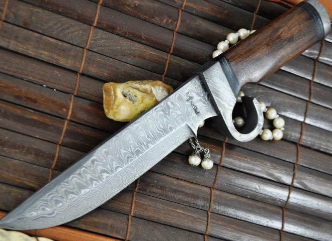Custom Made Damascus Hunting/Survival Knife - Prototype