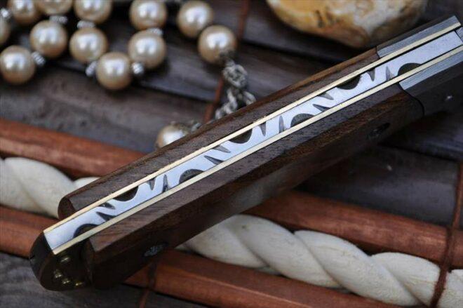 Now Legal To Carry Custom Made Damascus Pocket Knife - By Koobi
