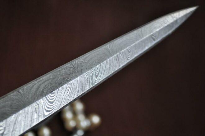 Double Edge Damascus Blank Blade