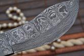 Damascus Hunting Knife - Nessmuk Knife With Sheath