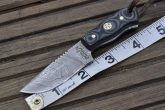 SMALL BUSHCRAFT KNIFE WITH SHEATH-9SB - DAMASCUS HUNTING KNIFE
