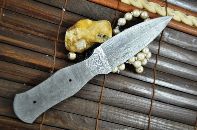 Damascus Steel Blank Blade - 9 inches - BL3