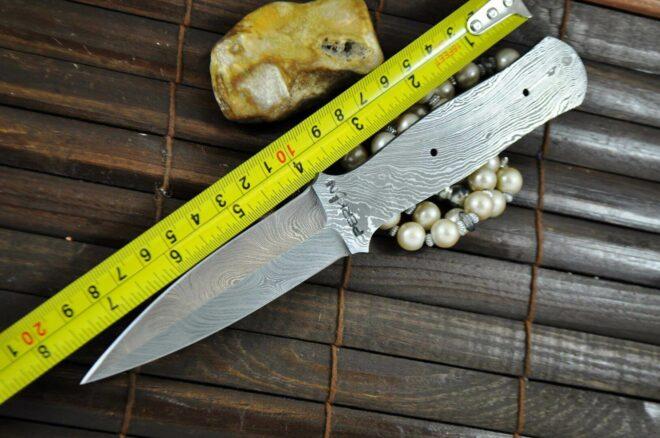 Handforged Damascus Steel Blank Blade