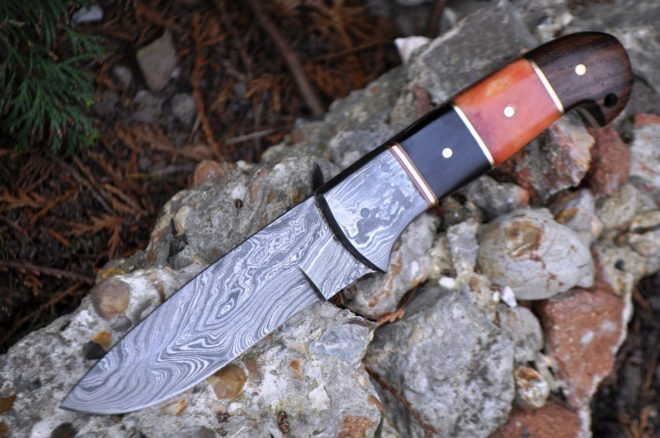 Handcrafted Beautiful Camping Knife with Buffalo Horn & Bone handle