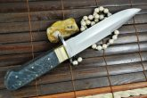 HANDCRAFTED BOWIE KNIFE 440C STEEL & MICARTA HANDLE - OUT STANDING VALUE