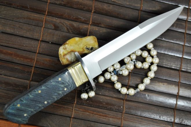 Handcrafted 440c Steel Bowie Knife With Micarta Handle