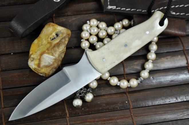 Handcrafted Bushcraft Knife with Camel Bone Handle - Outstanding Value